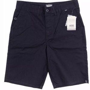 VANS Men's Splitter-B Skate Shorts Black AUTHENTIC